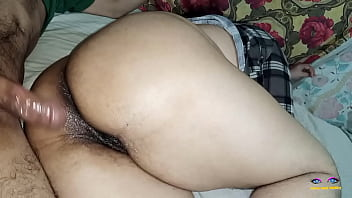 Big ass wife fucked hard in the ass